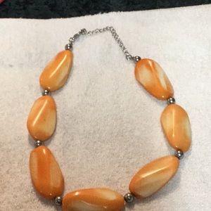 Orange and Cream Necklace